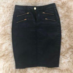 Express High Wasted Pencil Skirt Black Denim